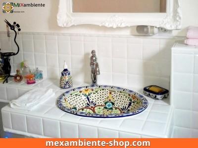 <p>Schafffen Sie ein echtes Badezimmer im Shabby Chic Style mit einem MexikanischenWaschbecken. Hier das Modell &#8220;Aventura&#8221; ein Klassiker bei Mexambiente.</p>