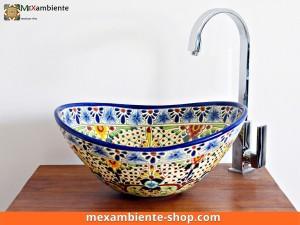 Mexikanisches Waschbecken oval Aventura