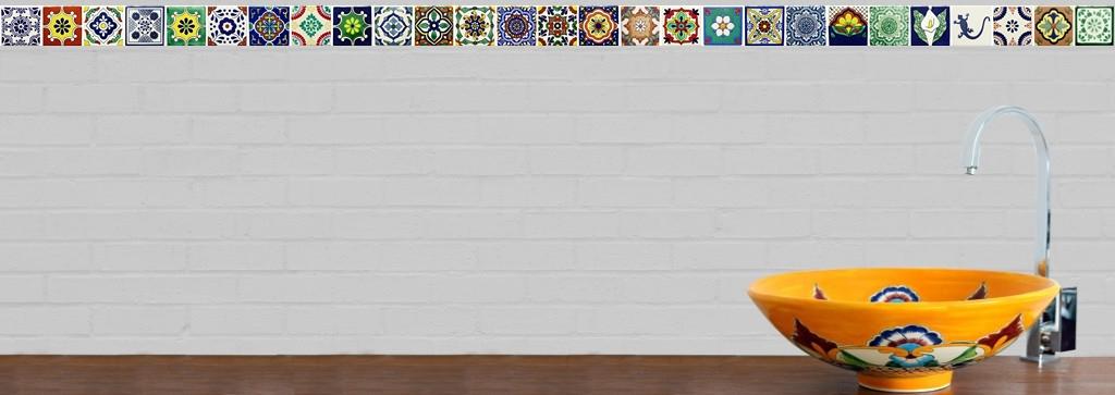 mexambiente handbemalte fliesen und mexikanische waschbecken. Black Bedroom Furniture Sets. Home Design Ideas