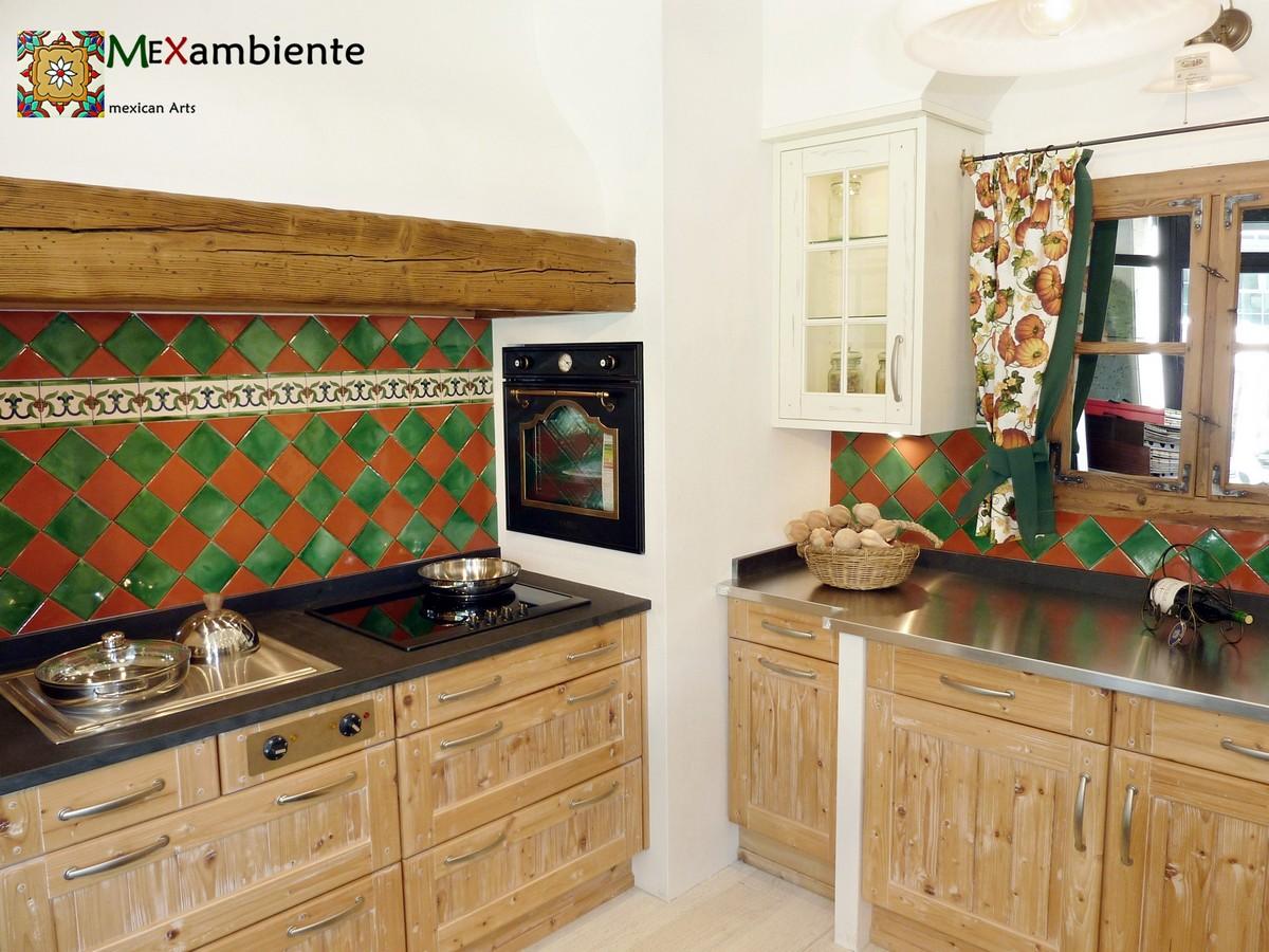 Landhaus Kuche Mit Mexikanischen Fliesen Mexambiente