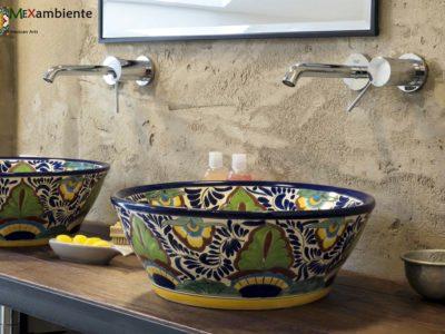 <p>Talavera Waschbecken aus Mexiko &#8211; Exklusiv bei Mexambiente</p>