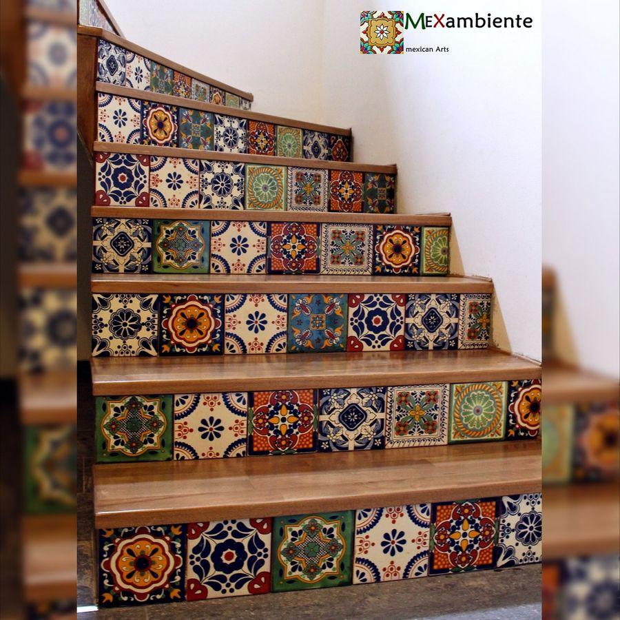 Treppe mit mexikanischen fliesen von mexambiente