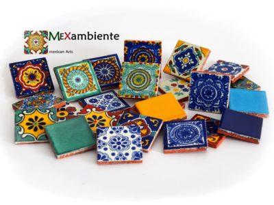 <p>Mosaikfliesen rustikal aus Mexiko 5×5 cm</p>