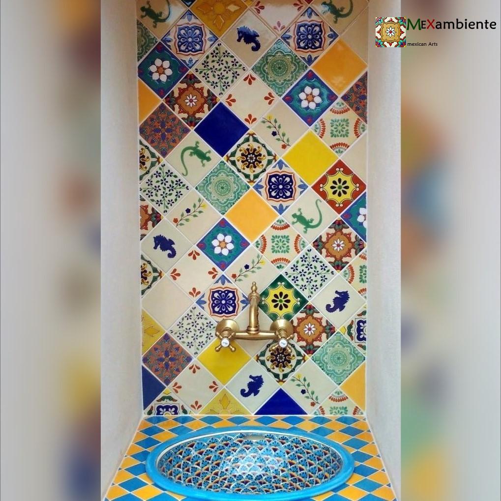 Marokkanische Fliesen für südliches Flair im Badezimmer ...