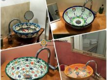 Schöne mexikanische Waschbecken für Ihr Gäste-WC