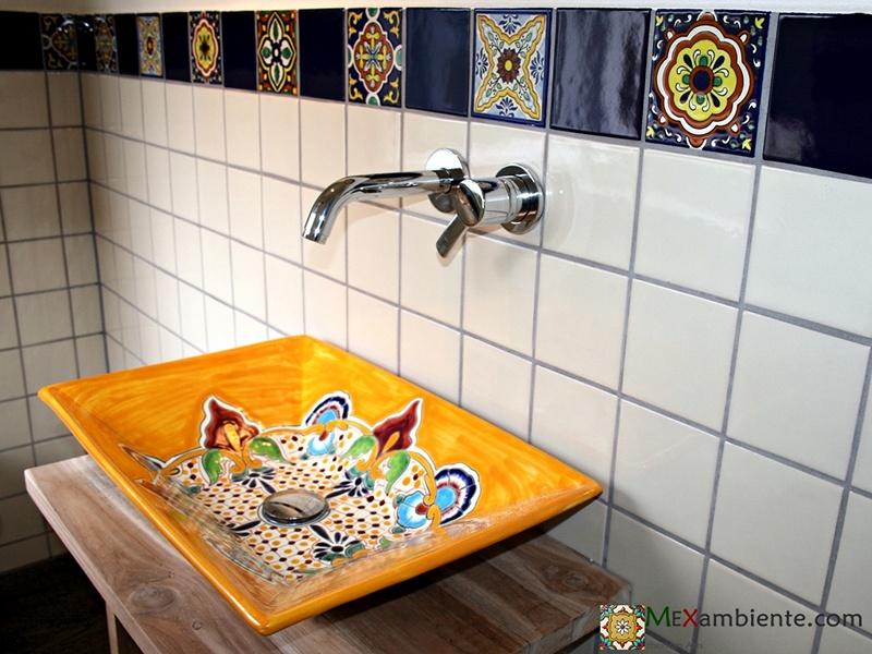Schöne mexikanische Waschbecken für Ihr Gäste-WC :: MEXAMBIENTE